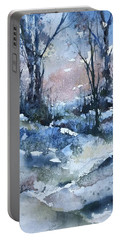 A Winter's Eve Portable Battery Charger by Robin Miller-Bookhout