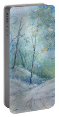A Winter's Walk Portable Battery Charger by Robin Miller-Bookhout
