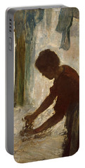 A Woman Ironing Portable Battery Charger by Edgar Degas