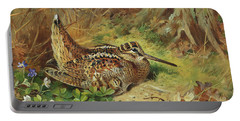 A Woodcock And Chicks Portable Battery Charger
