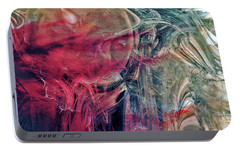 Portable Battery Charger featuring the digital art A World Beyond by Linda Sannuti