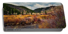 A Wyoming Autumn Day Portable Battery Charger by L O C