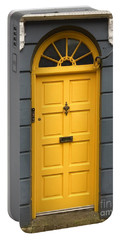 A Yellow Door In Ireland Portable Battery Charger