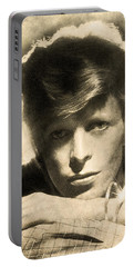 A Young David Bowie Portable Battery Charger