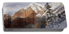 A Zion View Along The Trail Portable Battery Charger by Daniel Woodrum