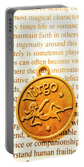A Zodiac Theme In Virgo Portable Battery Charger