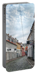 Portable Battery Charger featuring the photograph Aarhus Backstreet Scene by Antony McAulay