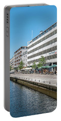 Portable Battery Charger featuring the photograph Aarhus Canal Scene by Antony McAulay