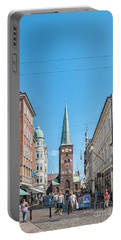 Portable Battery Charger featuring the photograph Aarhus Street Scene by Antony McAulay