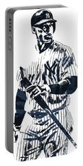 Aaron Judge New York Yankees Pixel Art 12 Portable Battery Charger