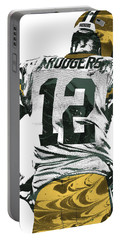 Aaron Rodgers Green Bay Packers Pixel Art 6 Portable Battery Charger