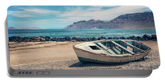 Abandoned Boat Portable Battery Charger by Delphimages Photo Creations