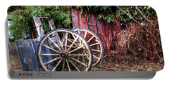 Portable Battery Charger featuring the photograph Abandoned Cart by Jim and Emily Bush