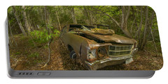 Abandoned Chevelle In Cape Breton Portable Battery Charger by Ken Morris