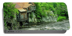 Abandoned Home By The River Portable Battery Charger
