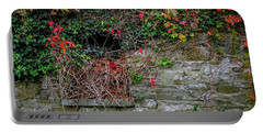 Portable Battery Charger featuring the photograph Abandoned Irish Cottage In Autumn by James Truett