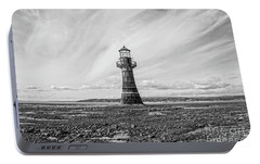 Portable Battery Charger featuring the photograph Abandoned Light House Whiteford by Edward Fielding