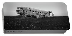 Abandoned Plane On Beach Portable Battery Charger