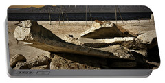 Portable Battery Charger featuring the photograph Abandoned Ruins On The Eastern Shore Of The Salton Sea by Randall Nyhof