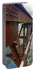 Abandoned Steel Bridge Nashville Indiana Portable Battery Charger