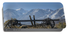Abandoned Wagon In The High Sierra Nevada Mountains Portable Battery Charger by Frank Wilson