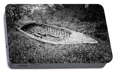 Portable Battery Charger featuring the photograph Abandoned Wooden Boat Alaska by Edward Fielding