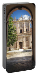Abbey Of The Holy Spirit At Morrone In Sulmona, Italy Portable Battery Charger