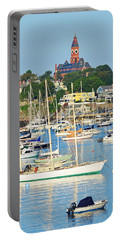Abbot Hall Over Marblehead Harbor From Chandler Hovey Park Portable Battery Charger