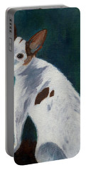Portable Battery Charger featuring the painting Abby by Jamie Frier
