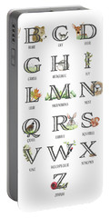 Abc Woodland Alphabet Sampler Portable Battery Charger