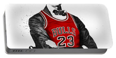 Abe Lincoln In A Bulls Jersey Portable Battery Charger
