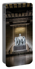Abe Lincoln Under His Night Lights  Portable Battery Charger