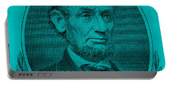 Portable Battery Charger featuring the photograph Abe On The 5 Aqua Blue by Rob Hans
