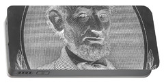 Portable Battery Charger featuring the photograph Abe On The 5 B W Inverted by Rob Hans
