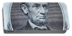 Portable Battery Charger featuring the photograph Abe On The 5 Cyan by Rob Hans