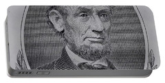 Portable Battery Charger featuring the photograph Abe On The 5 Gray by Rob Hans
