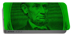 Portable Battery Charger featuring the photograph Abe On The 5 Green by Rob Hans