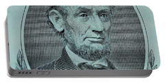 Portable Battery Charger featuring the photograph Abe On The 5 Lite Blue by Rob Hans