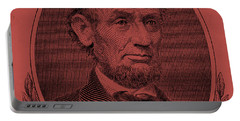 Portable Battery Charger featuring the photograph Abe On The 5 Peach by Rob Hans