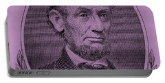 Portable Battery Charger featuring the photograph Abe On The 5 Pink by Rob Hans