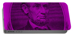 Portable Battery Charger featuring the photograph Abe On The 5 Purple by Rob Hans