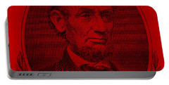 Portable Battery Charger featuring the photograph Abe On The 5 Red by Rob Hans