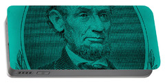 Portable Battery Charger featuring the photograph Abe On The 5 Turquoise by Rob Hans