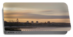 Aberdeen Beach At Sunset Portable Battery Charger