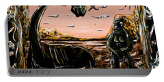 Portable Battery Charger featuring the painting Abiogenesis  by Ryan Demaree