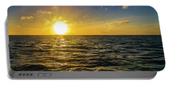 Portable Battery Charger featuring the photograph Aboard A Danger Charter Sunset Cruise In Key West by Bob Slitzan