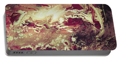 Above The Clouds - Contemporary Earth Tone Abstract Painting Portable Battery Charger