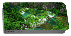 Above The Paths And Waterfalls At Plitvice Lakes National Park, Croatia Portable Battery Charger