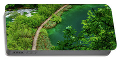 Above The Paths At Plitvice Lakes National Park, Croatia Portable Battery Charger