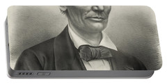 Portable Battery Charger featuring the photograph Abraham Lincoln - As A Presidential Candidate by International  Images